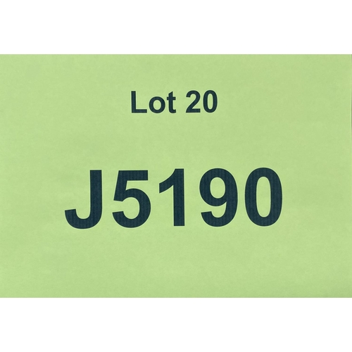 20 - J5190 - a four digit Jersey registration mark (purchaser must be ordinarily resident in Jersey C.I.)...