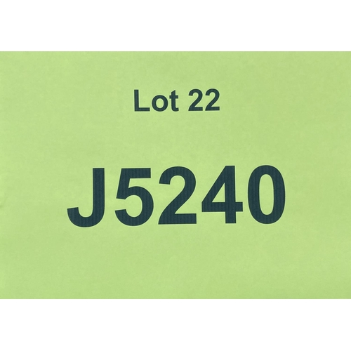 22 - J5240 - a four digit Jersey registration mark (purchaser must be ordinarily resident in Jersey C.I.)...