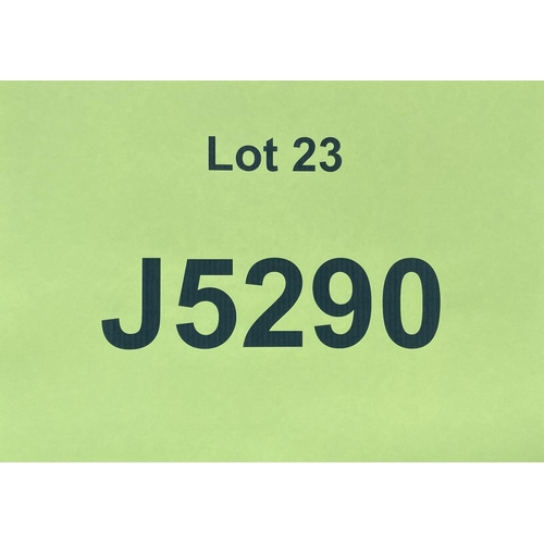 23 - J5290 - a four digit Jersey registration mark (purchaser must be ordinarily resident in Jersey C.I.)...