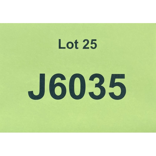 25 - J6035 - a four digit Jersey registration mark (purchaser must be ordinarily resident in Jersey C.I.)...