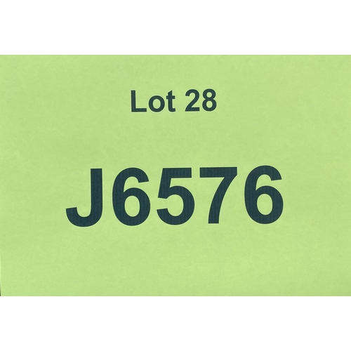 28 - J6576 - a four digit Jersey registration mark (purchaser must be ordinarily resident in Jersey C.I.)