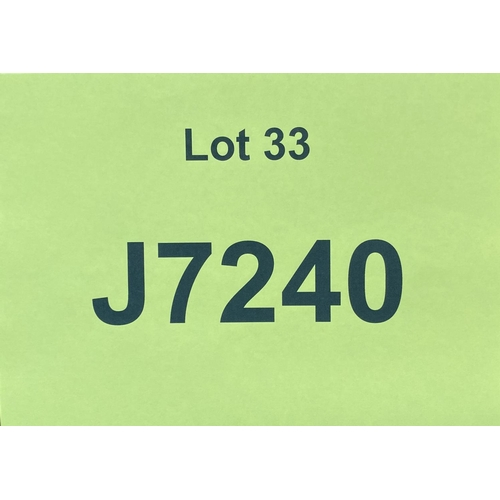 33 - J7240 - a four digit Jersey registration mark (purchaser must be ordinarily resident in Jersey C.I.)...