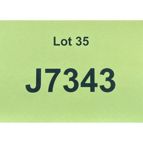 35 - J7343 - a four digit Jersey registration mark (purchaser must be ordinarily resident in Jersey C.I.)...