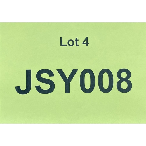 4 - JSY008 - a three digit Jersey JSY registration mark (purchaser must be ordinarily resident in Jersey...