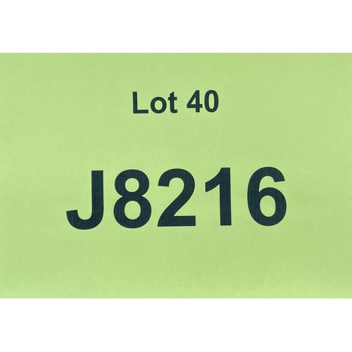 40 - J8216 - a four digit Jersey registration mark (purchaser must be ordinarily resident in Jersey C.I.)...