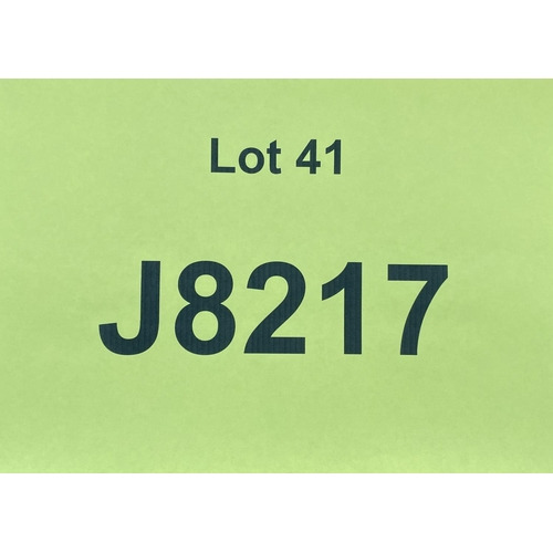 41 - J8217 - a four digit Jersey registration mark (purchaser must be ordinarily resident in Jersey C.I.)...