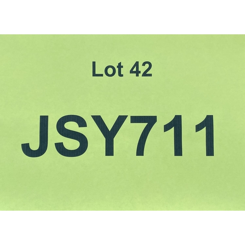 42 - JSY711 - a three digit Jersey JSY registration mark (purchaser must be ordinarily resident in Jersey...