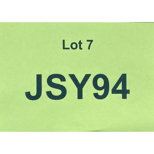 7 - JSY94 - a two digit Jersey JSY registration mark (purchaser must be ordinarily resident in Jersey C....
