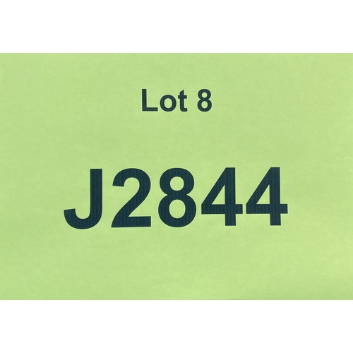 8 - J2844 - a four digit Jersey registration mark (purchaser must be ordinarily resident in Jersey C.I.)...