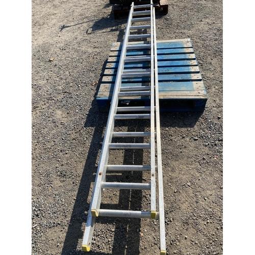 50 - An aluminium extension ladder...