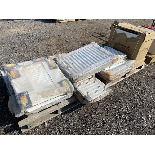 55 - A quantity of Stelrad, Omyson and other radiators together with a MV8R unit - all new...