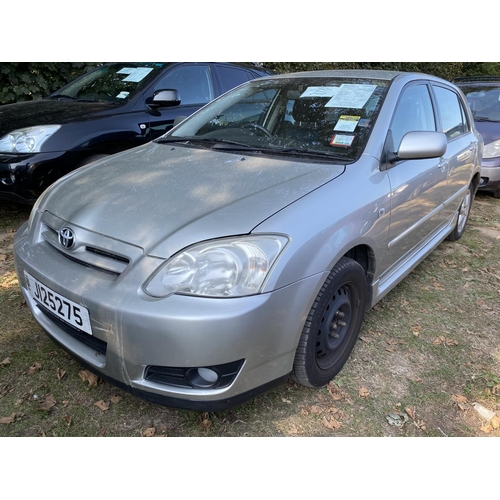 18 - A 2005 Toyota Corolla CC 1.6 five door hatchback (automatic) J125275, odometer reading 47,702 miles...
