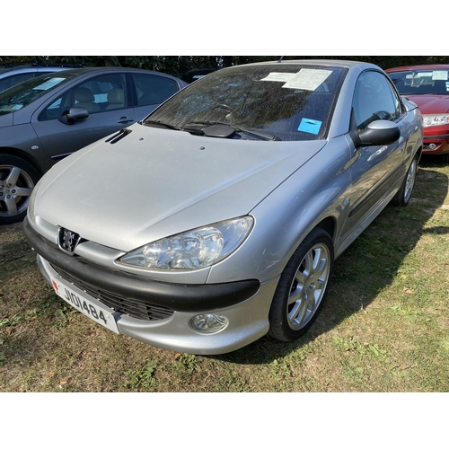 23 - A 2002 Peugeot 206 2.0 coupe (manual) J101484, odometer reading 66,773 miles...