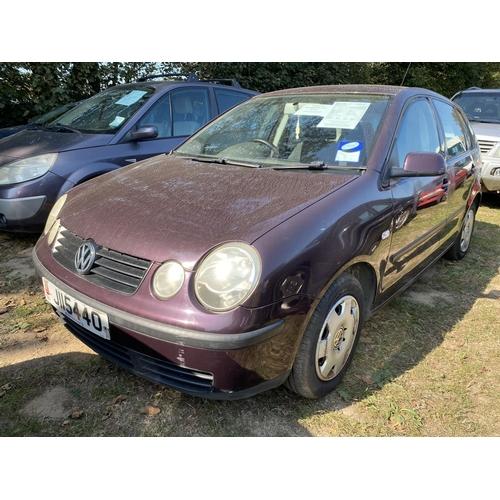 25 - A 2002 Volkswagen Polo SE 1.2 five door hatchback (manaul) J115440, odometer reading 45,567 miles...