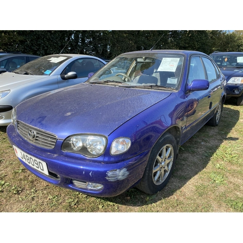 28 - A 2001 Toyota Corolla GLS 1.6 five door hatchback (automatic) J48090, odometer reading 58,988 miles ...