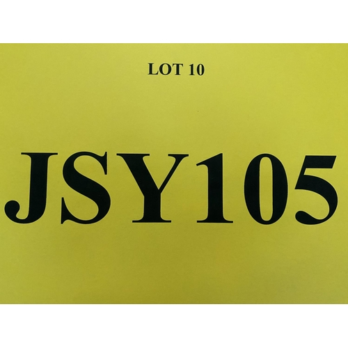 10 - JSY105 - a three digit Jersey JSY registration mark (purchaser must be ordinarily resident in Jersey...