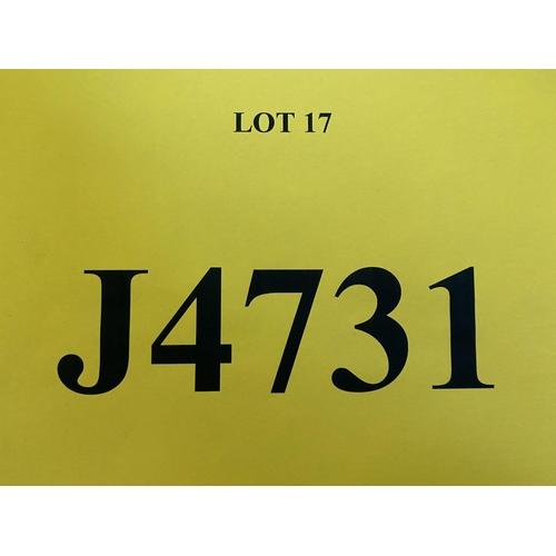17 - J4731 - a four digit Jersey registration mark (purchaser must be ordinarily resident in Jersey C.I.)