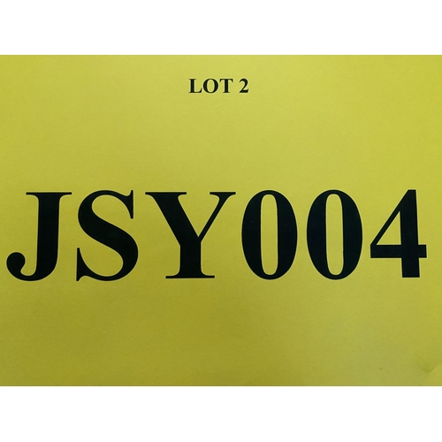 2 - JSY004 - a three digit Jersey JSY registration mark (purchaser must be ordinarily resident in Jersey...