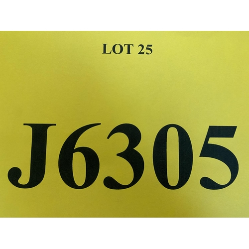 25 - J6305 - a four digit Jersey registration mark (purchaser must be ordinarily resident in Jersey C.I.)