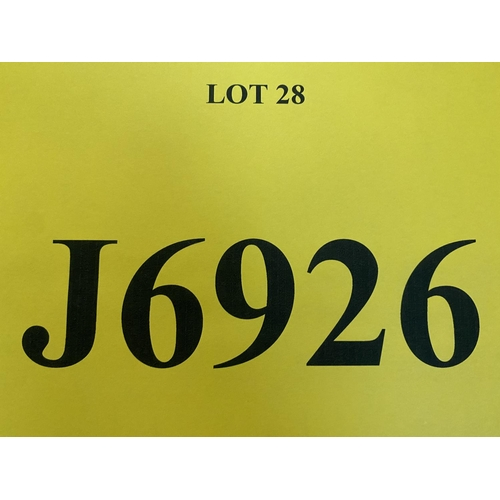 28 - J6926 - a four digit Jersey registration mark (purchaser must be ordinarily resident in Jersey C.I.)