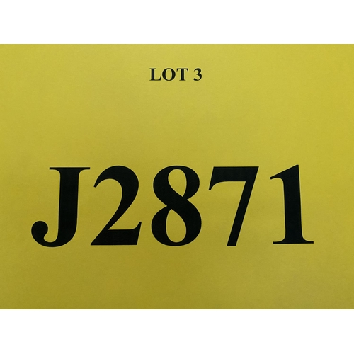 3 - J2871 - a four digit Jersey registration mark (purchaser must be ordinarily resident in Jersey C.I.)