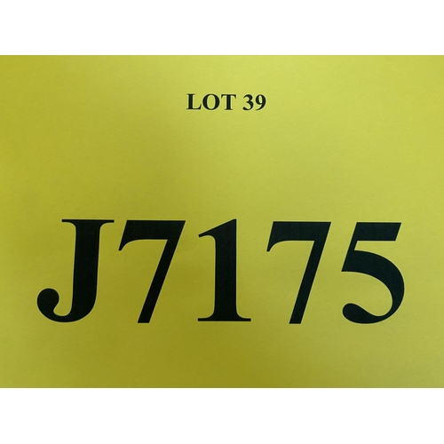 39 - J7175 - a four digit Jersey registration mark (purchaser must be ordinarily resident in Jersey C.I.)