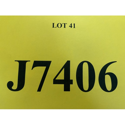 41 - J7406 - a four digit Jersey registration mark (purchaser must be ordinarily resident in Jersey C.I.)