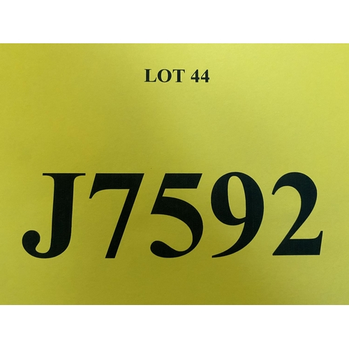 44 - J7592 - a four digit Jersey registration mark (purchaser must be ordinarily resident in Jersey C.I.)
