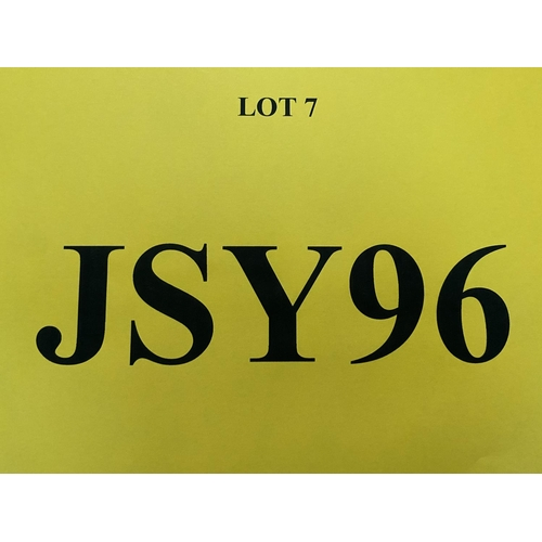 7 - JSY96 - a two digit Jersey JSY registration mark (purchaser must be ordinarily resident in Jersey C....