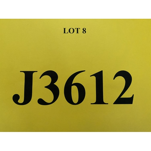8 - J3612 - a four digit Jersey registration mark (purchaser must be ordinarily resident in Jersey C.I.)