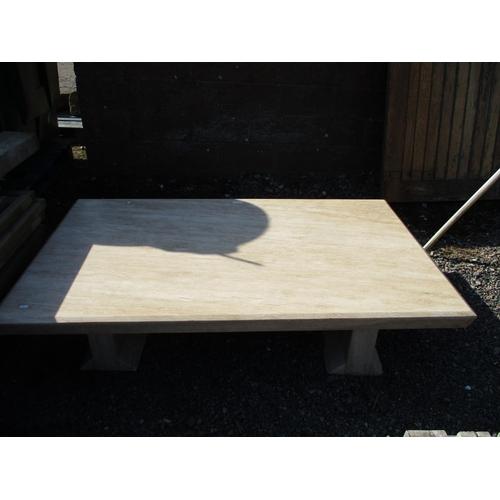 32 - A rectangular polished granite table