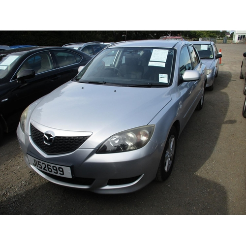 16 - A 2004 Mazda 3 TS 1.6 five door hatchback (manual) J152699, odometer reading 115,459 miles