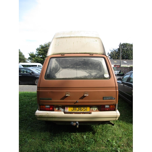 23 - A 1981 Volkswagen T3 Transporter Turbo Camping 2.0 left hand drive camper van (automatic) J113651, o...