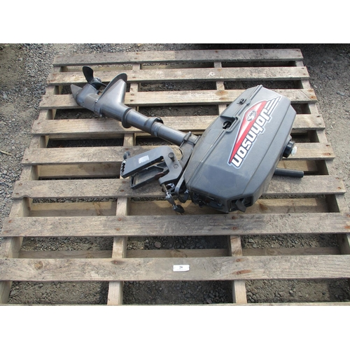 29 - A Johnson 2hp outboard engine - recently serviced
