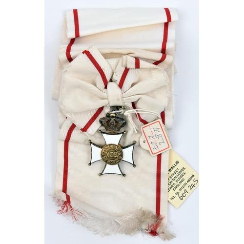 432 - Monaco: Order of the Grimaldi (established by Prince Rainier III 1954), sash and sash badge, obv cen...