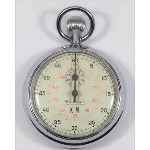 448 - Hanhart Kriegsmarine 60 second stopwatch. Plated case, 51mm diameter, no markings on caseback. Dial ...