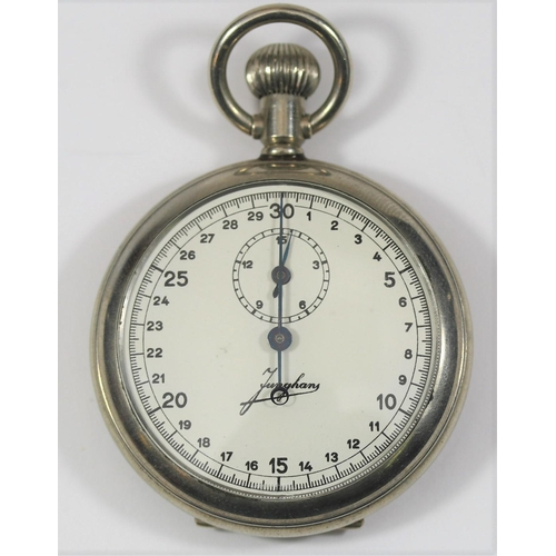 452 - Junghans Kriegsmarine 30 second stopwatch. Plated case with hinged back, excellent condition. Caseba...