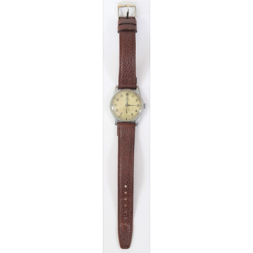 456 - Festa branded wristwatch. Plated case, brushed finish, wear and scratches to plating, 30mm without c...