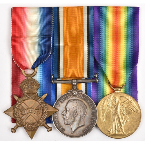 416 - Three:1914-15 star, BWM, Victory (10209 Pte J T Boadey, S. Lan Regt), GVF (Victory named as Boady). ...