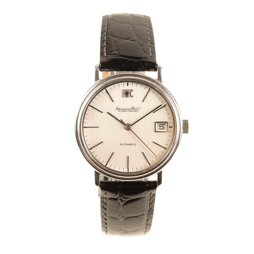 13 - IWC PORTOFINO GENTLEMAN'S STAINLESS STEEL WRIST WATCH with automatic movement silver dial silver bat...