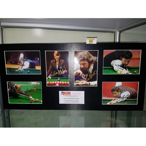 300 - Signed 2013 snooker legends signed Jimmy White, Joe Johnson, Steve Davies, John Virgo, Stephen Hendr...