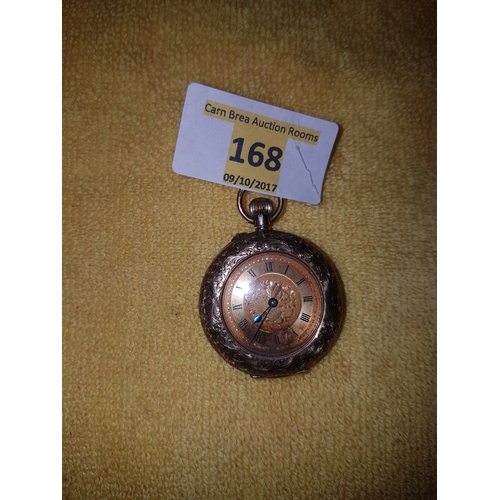 168 - 9ct gold pocket watch...