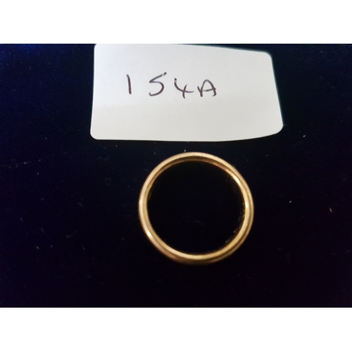 154A - 22ct gold wedding band 7.4g...