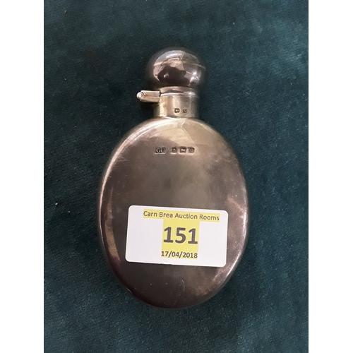151 - Small silver flask, hallmarked GU Birmingham 1913...