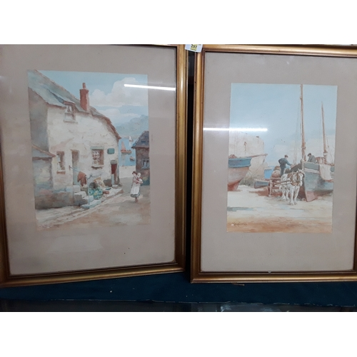 297 - Pair of St.Ives watercolours - listed Artist Louis Mortimer Stives...