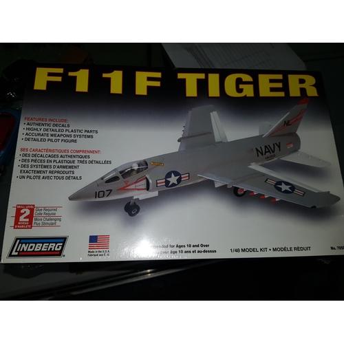 77 - LINDBERG GRUMMAN F-11F TIGER 1:48 scale kit...