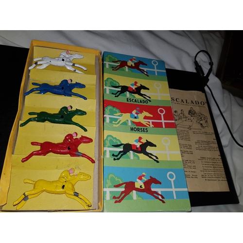 9 - Early Escalado metal horses in good condition/...