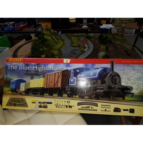 23 - Blue Highland train set...
