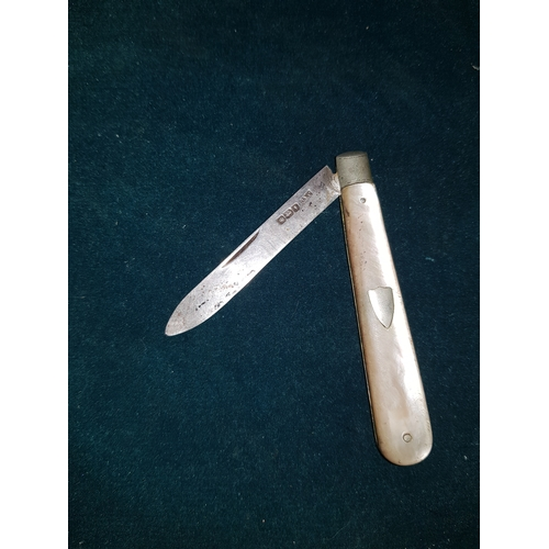 212 - Silver hallmarked Knife...