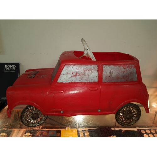 1 - 1960's Tri-ang child's Leeway mini cooper MK1 pedal car, 75cm in length...